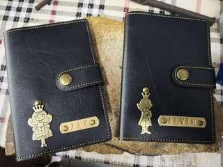 Personalized wallet passport card holder