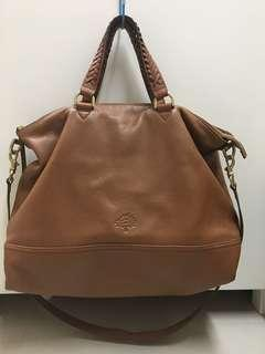 Authentic Mulberry Effie Tote in Oak Spongy Pebbled Leather.