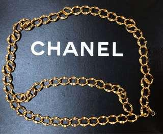 Authentic Chanel Gold Chain Belt