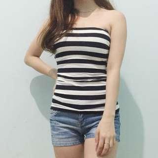 kemben strip white/navy