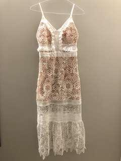 White Lace Dress made in Korean