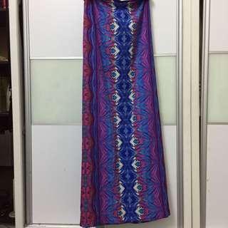 Printed A-cut skirt