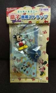 Disney景品吊飾 扇子米奇公仔