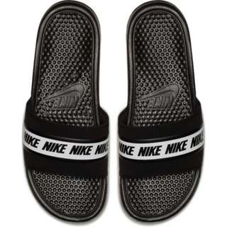 c15ab762ce7 NIKE BENASSI MEN S SLIDE - BLACK WHITE