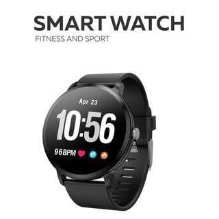 【IP67 全防水】WHATSAPP WECHAT 信息來電提示/血壓心率監測/計步器/運動模式/睡眠監測 /天氣顯示/智能手錶 Bluetooth Smart Watch Pedometer Message and Call Alert