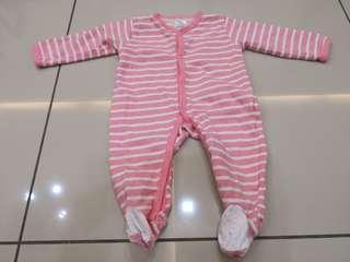 Sam & Emy Striped Sleepsuits (3-6m)