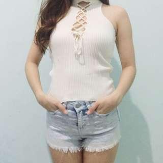 white sling top