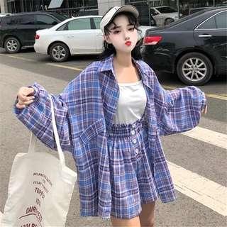 •PO• Checkered outerwear w shorts