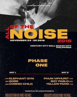 LOOKING FOR: 3 TICKETS FOR ALL OF THE NOISE DAY 2