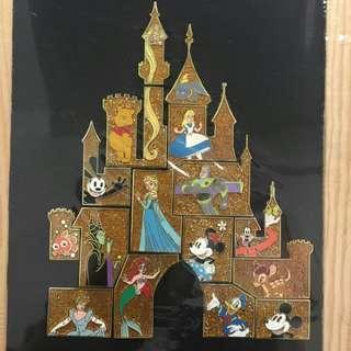 經典城堡(全套16個)-disney pin迪士尼襟章