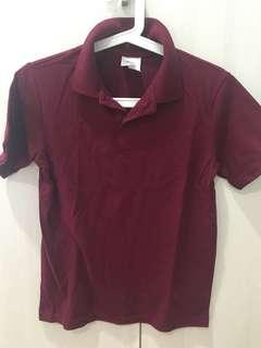 Maroon target polo t age 14