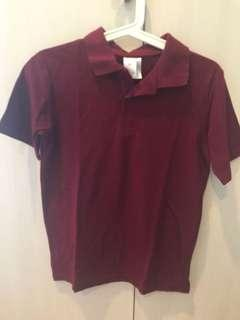 Target Maroon polo T age 12