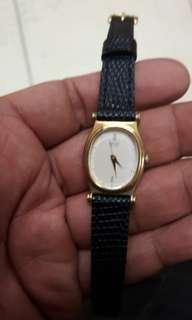 🚚 日夲原裝 精工 石英錶:純小羊皮錶帶