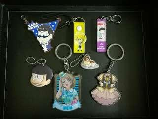 Anime Keychains & Charms
