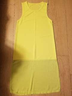 螢光黃背心打底衫