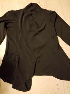 薄料黑色外套