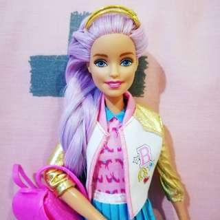 Barbie Doll OOAK Made to move doll barbie pink purple hair baseball skirt pink blue white dress accessory toys girls play collection #TOYS50