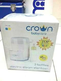 Fixed price+free ongkir jabotabek (NEW) Sterilizer 3 botol - Merk Crown (warna kuning)