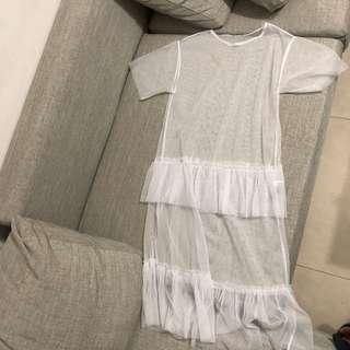 🚚 正韓紗裙罩衫