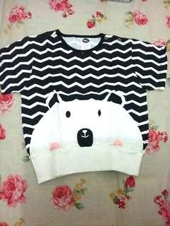(NEW) Pop Out Bear Tee 18 - 24 bulan High Quality