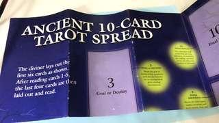 Ancient 10-card tarot spread poster