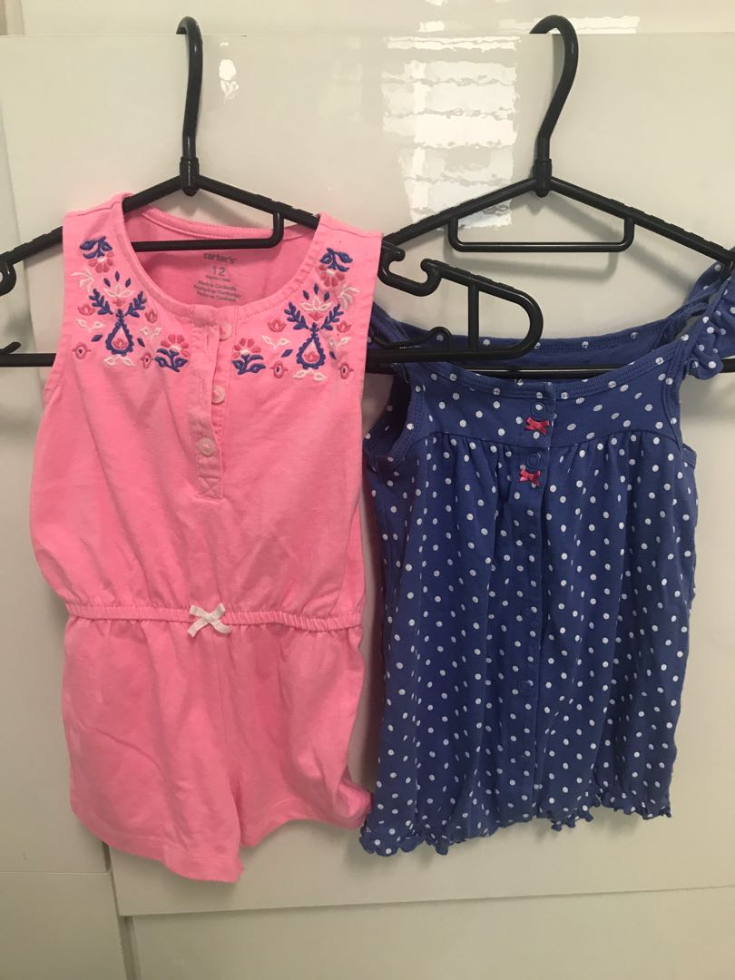 5e737466b 2 pc Carters rompers 12 Mths