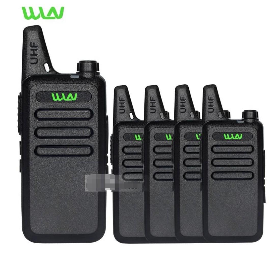 🚪5pcs Portable Radio Set WLN KD-C1 Mini Walkie Talkie UHF Handheld Two Way  Ham Radio Communicator HF Transceiver Amateur Handy