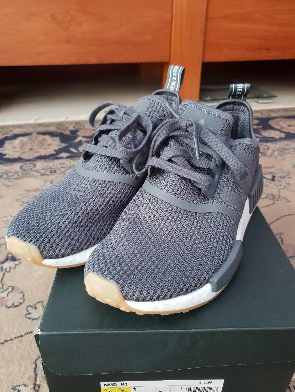 Original Adidas NMD R1, Men's Fashion, Footwear, Sneakers on
