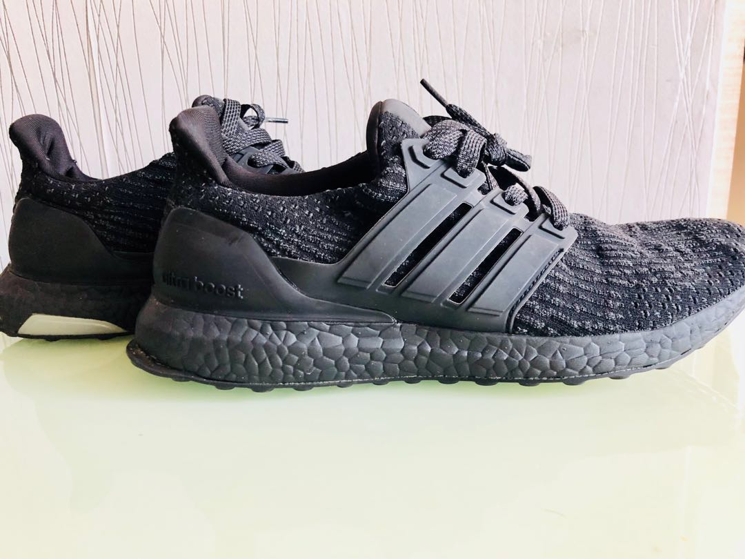buy online 87b0f ed1db Adidas ultraboost Black size us 10 uk 9.5 fr44, Sports, Sports Apparel on  Carousell