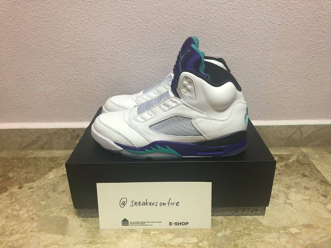 b8f690b7d93623 Air Jordan 5 Fresh Prince Grape