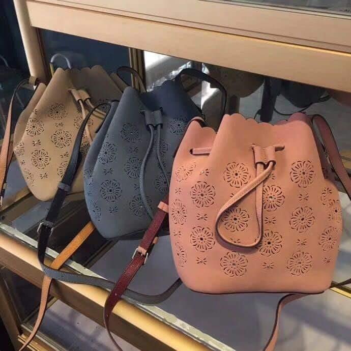 e105a7a5edc discount authentic coach bucket bag 18 with cut out tea rose cofac womens  fashion bags wallets