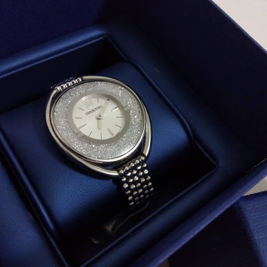 38909380f Authentic Crystalline Oval Silver Swarovski Watch #DEC30, Luxury ...