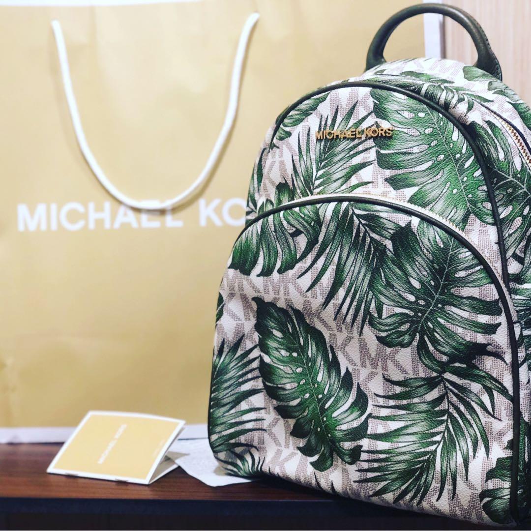 d795c8a4be04 💯Authentic Michael Kors Abbey Medium Backpack, Women's Fashion ...