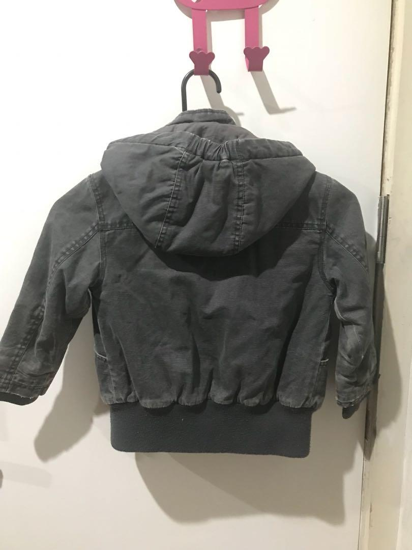 Be authentic BK KID washed denim puffer jacket size 8