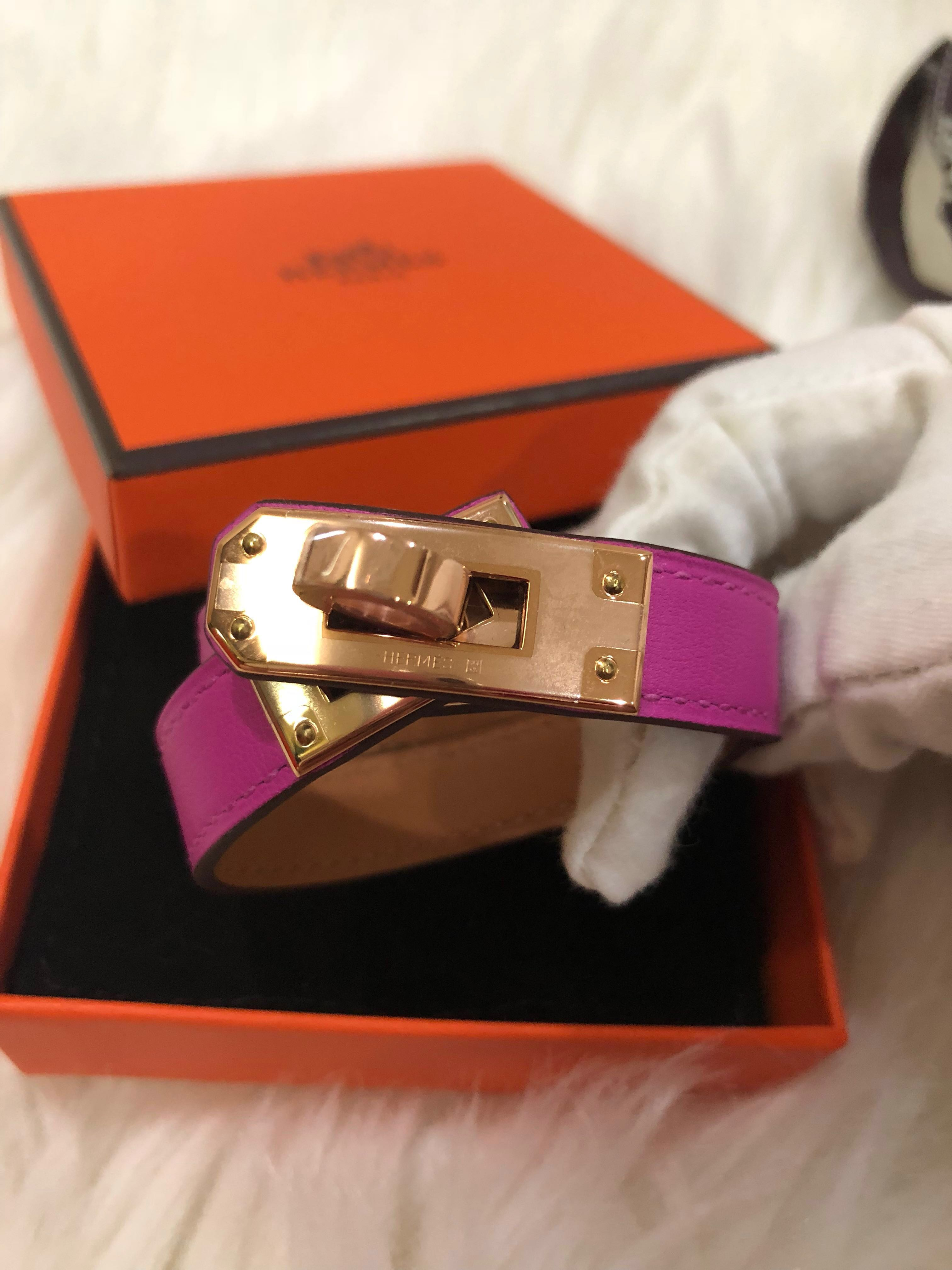 BNIB Hermes Kelly double tour bracelet, Luxury, Accessories, Others on  Carousell 620dd20cf83