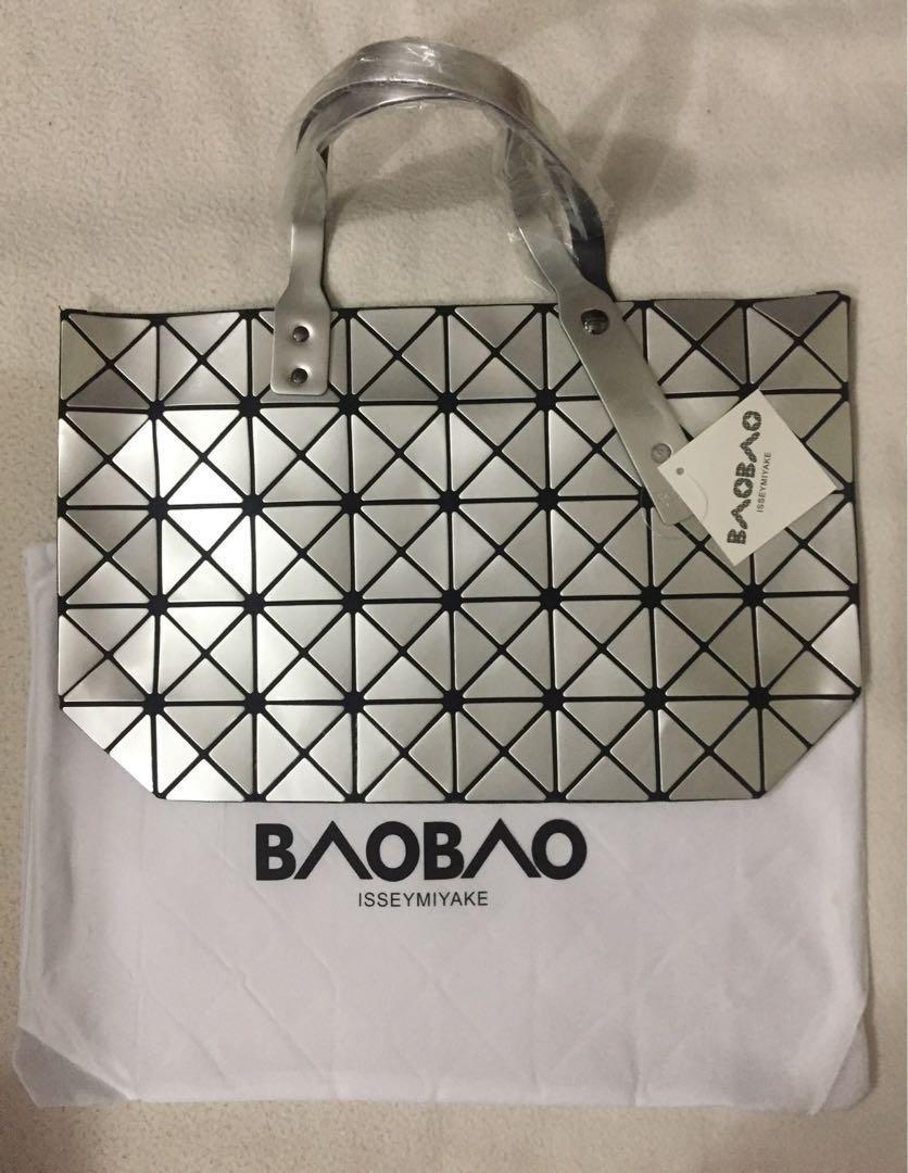 f7a1fa66bfe0 Brand New Transverse Issey Miyake Baobao Tote Bag - Silver