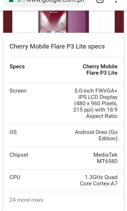 Cherry mobile flare p3 light, Mobile Phones & Tablets, Android