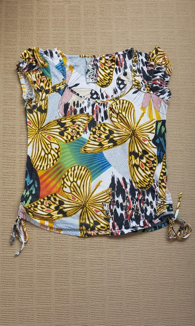 Colorful butterfly shirt