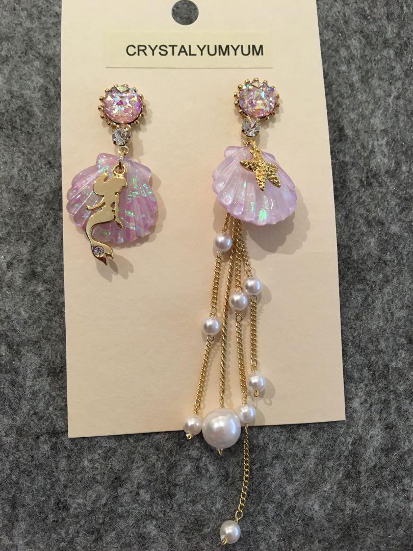 Disney Princess Ariel Lilac Shell Earrings