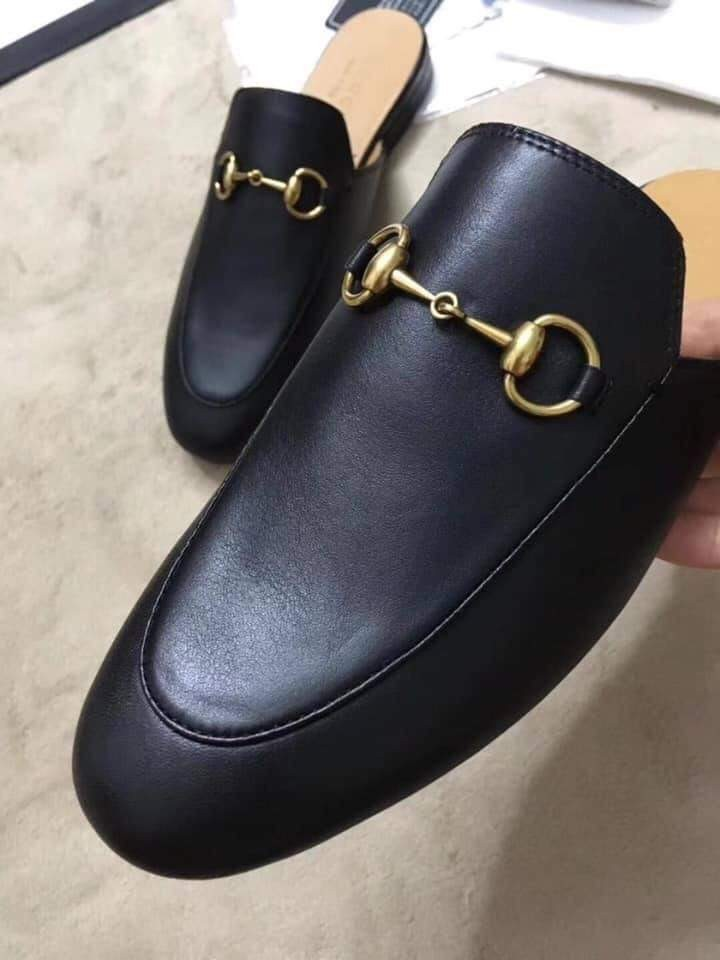 Gucci leather half shoe, Women's