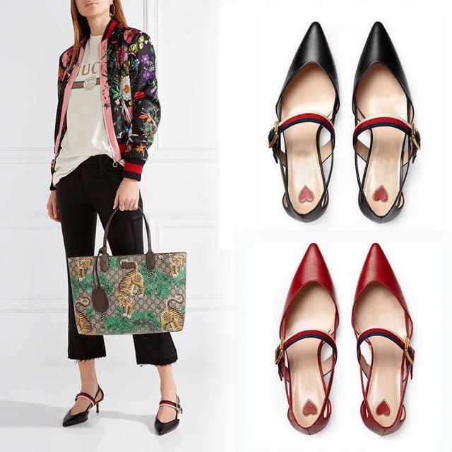 20eb1982887 Gucci Leather Pump Heels