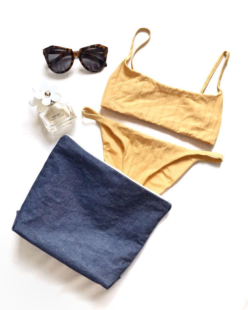 Handmade Denim Bikini Bag