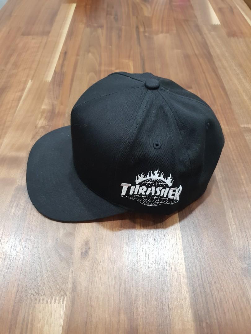 HUF x Thrasher TDS Snapback Cap Black e7c3a33ada0e
