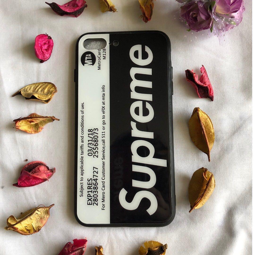 iPhone X & iPhone 8PLUS Black Supreme Cover/Case