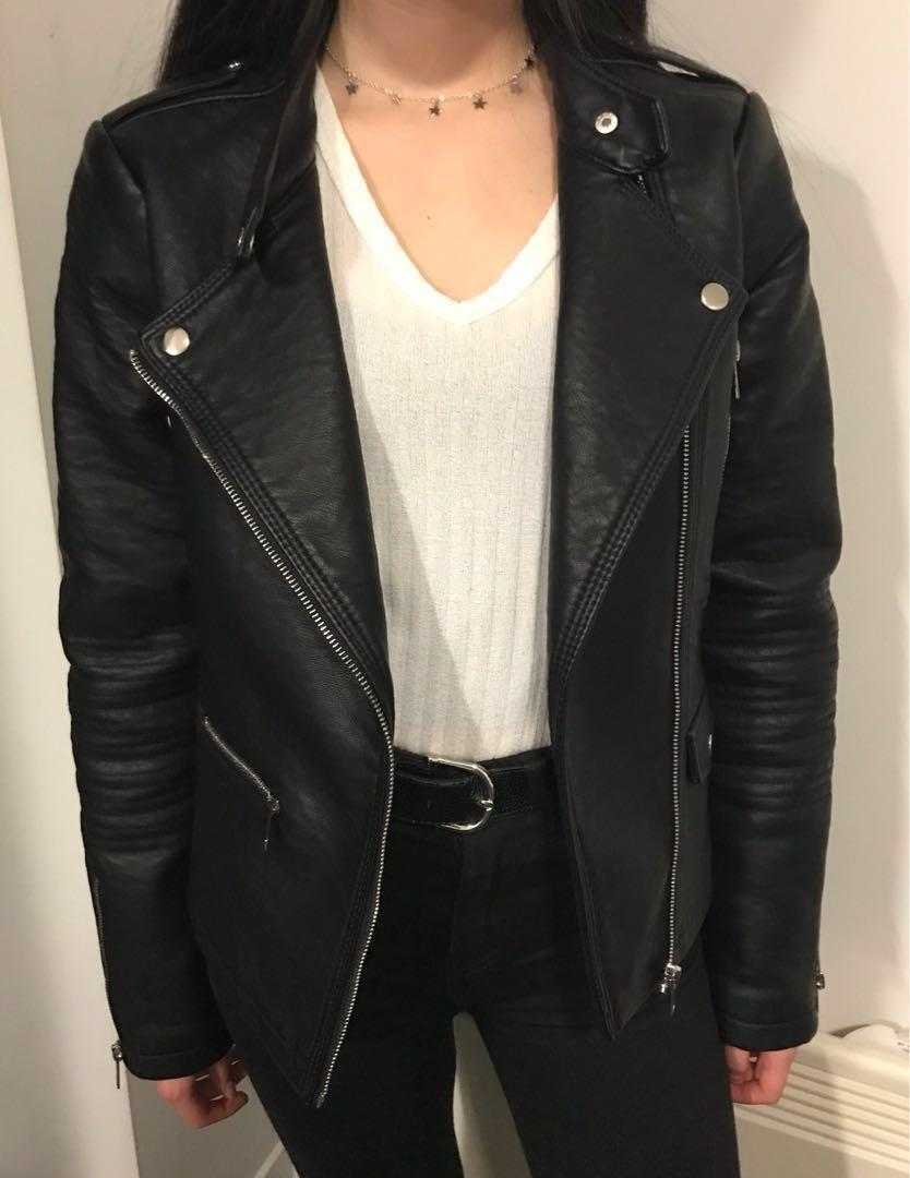 Like-new Faux Leather Jacket