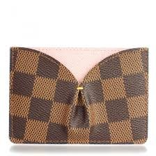 37cd377bd657 LV Damier Ebene Caissa Card Holder Rose Ballerine Louis Vuitton ...