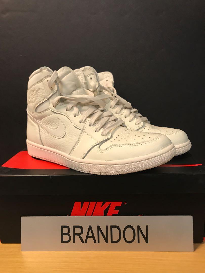 reputable site 06e06 85df6 Nike Air Jordan 1 Retro High OG Sail, Men s Fashion, Footwear, Sneakers on  Carousell