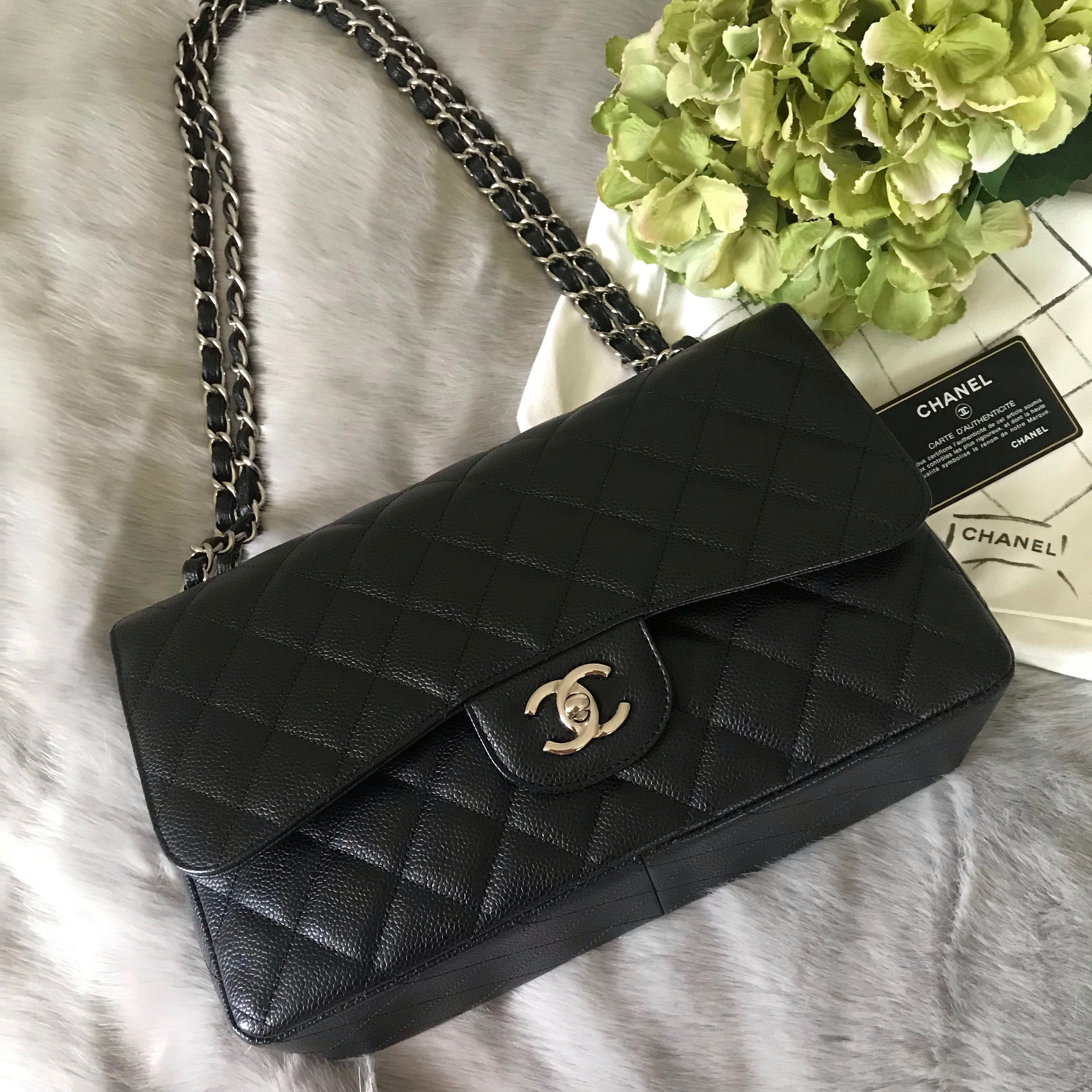 87eae1c34dc7 (ON HOLD) CHANEL JUMBO CLASSIC CAVIAR DOUBLE FLAP BAG - 💯% AUTHENTIC,  Luxury, Bags & Wallets, Handbags on Carousell