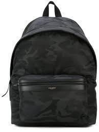 9aa2026b6fb Saint Laurent Black Camo City Backpack
