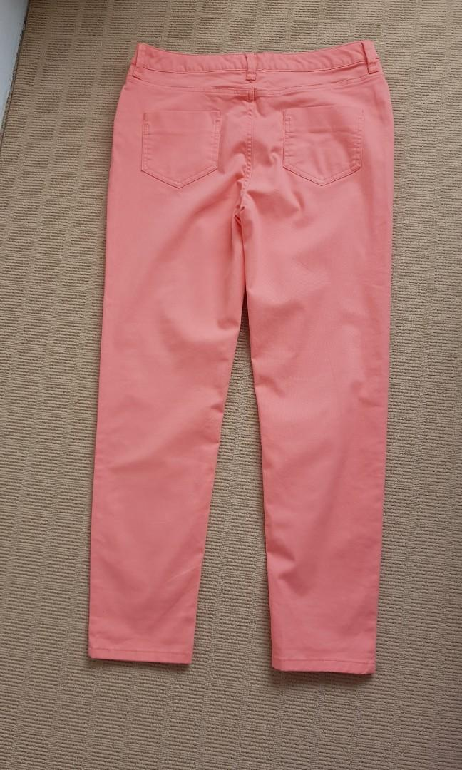 Salmon pink pants